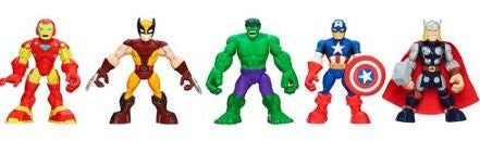 Playskool Heroes, Marvel Super Hero Adventures, Super Hero Team Pack [Wolverine, Hulk, Captain America, Iron Man, and Thor]