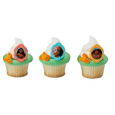 Moana Voyagers Cupcake Rings - 24 pc