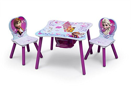 Delta Children Table and Chair Set With Storage, Disney Frozen