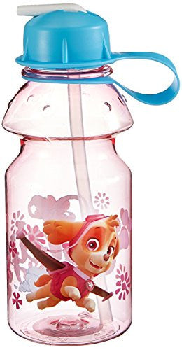 Zak! Designs Tritan Water Bottle with Flip-up Spout featuring Pink Paw Patrol Graphics, Break-resistant and BPA-free plastic, 14 oz.