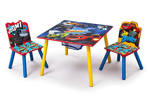 Delta Children Table and Chair Set with Storage, Nick Jr. Blaze/The Monster Machines