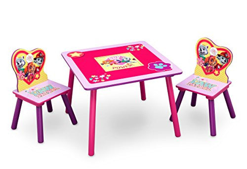 Delta Children Table and Chair Set With Storage, Nick Jr  PAW Patrol/Skye &  Everest