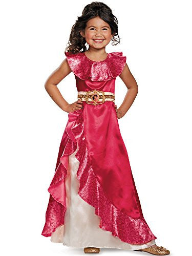 Disguise Elena Adventure Dress Classic Elena of Avalor Disney Costume, Medium/7-8