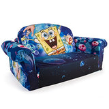 Marshmallow Furniture, Children's 2 in 1 Flip Open Foam Sofa, Nickelodeon SpongeBob Square Pants, by Spin Master