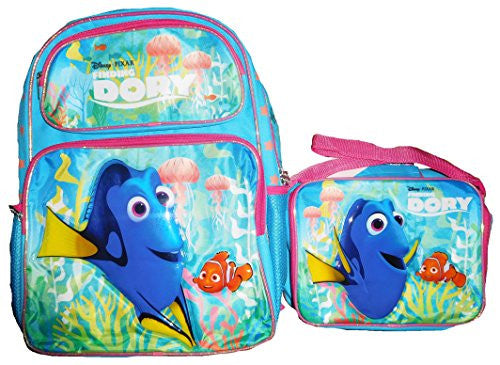 Disney Finding Dory New Movie Backpack w/ Lunch Bag Set