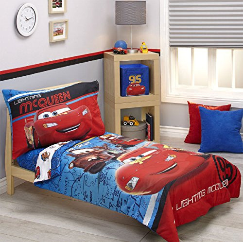 Disney Cars Team Lightening 4pc Toddler Bed Set