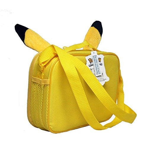 ... Pokemon KZ23583774 Nintendo Pikachu 3D Plush Ear Insulated Lunch Tote  Bag with Adjustable Strap ce31fdbb01320