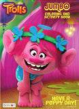 Dreamworks Trolls Coloring Book, Puzzle and Stamper Activity Set - Include 1 Coloring Book (96 pages) , Trolls Puzzle , 24 Crayola Crayons and 6 Stampers