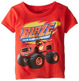 Blaze and Monster Machines Little Boys' Toddler Short Sleeve T-Shirt, Red, 3T