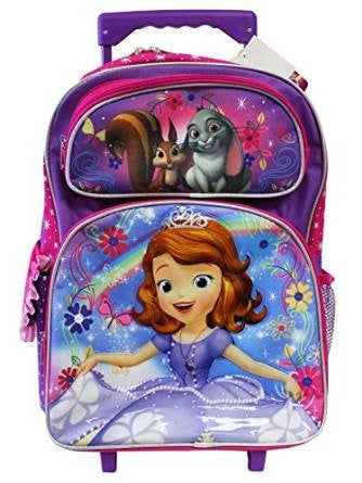 Disney's Sofia The First Rainbow Magic Full Size Rolling Backpack (16in)