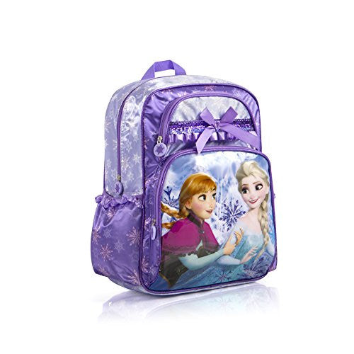 Disney Frozen Anna Elsa Deluxe Large 16 Backpack (Purple)