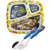 Zak! Designs Easy Grip Flatware, Children's Spoon and Fork with Paw Patrol Graphics, BPA-free Plastic and Stainless Steel