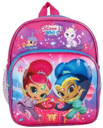 "Nickelodeon Shimmer and Shine Toddler Mini 10"" Backpack"
