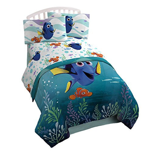 Disney/Pixar Finding Dory 'Sun Rays' 5 Piece Full Bed In A Bag