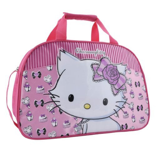 Hello Kitty Sanrio Charmmykitty Large Overnight Bag with Raised Motif