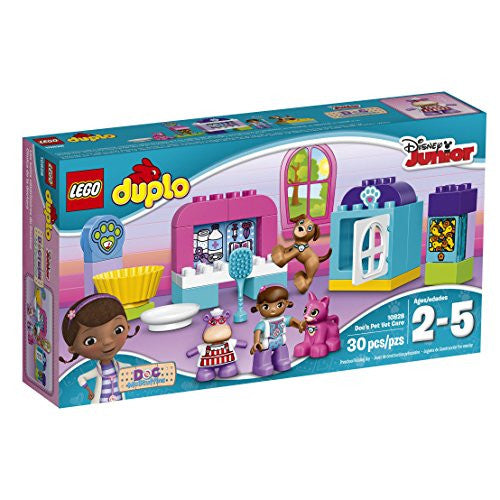 LEGO DUPLO Disney Doc McStuffins Pet Vet Care 10828, Preschool, Pre-Kindergarten Large Building Block Toys for Toddlers
