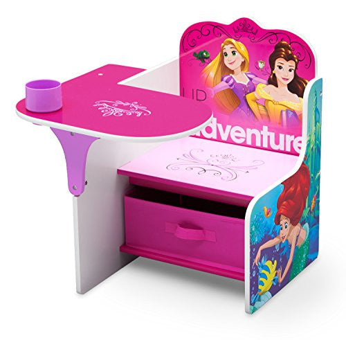 Delta Children Chair Desk with Storage Bin, Disney Princess (Friendship Adventures)