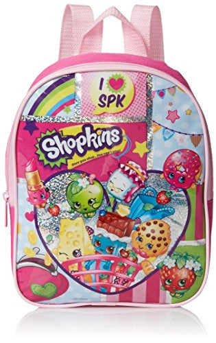 Shopkins Girls' 10 Inch Mini Backpack, Pink, No Size