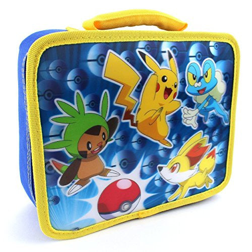 Pokemon Soft Lunch Box (Blue Lenticular Pokemon)