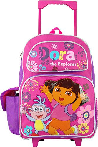 Dora the Explorer 16 Inch Large Rolling Backpack.