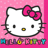 Hello Kitty Party Supplies Pack for 16 Guests Includes: Straws, Dessert Plates, Beverage Napkins, and Cups (Bundle for 16)