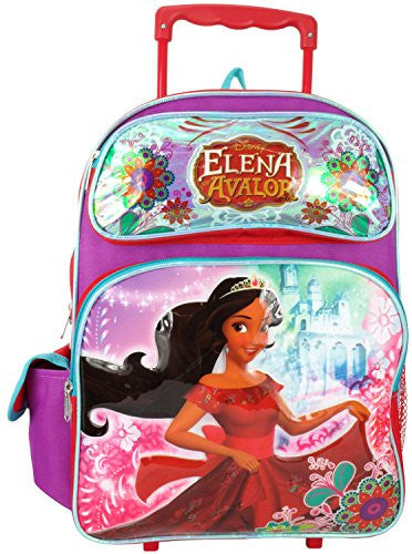 "Disney Princess Elena of Avalor 16"" Large Rolling Backpack"