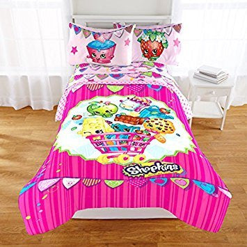 "Shopkins ""Flag Bunting"" Comforter and Sheet Set Twin Size"