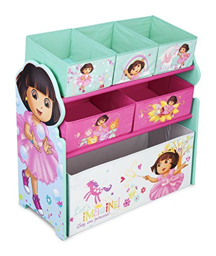 Delta Children Multi-Bin Toy Organizer, Nick Jr. Dora The Explorer