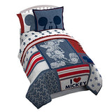Disney Mickey Mouse Americana 4 Piece Twin Bed In A Bag