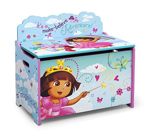 Delta Children Deluxe Toy Box, Nick Jr. Dora the Explorer