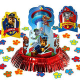 Paw Patrol Party Supplies Pack Decorations - Candle Set, Hanging Cutouts, and Table Decorating Kit