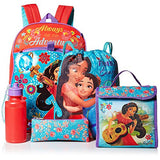 Disney Girls' Elena 5 Pc Set Backpack, Red