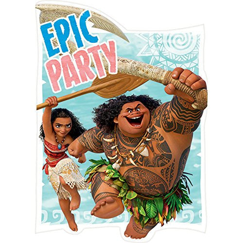 Moana Postcard Invitations
