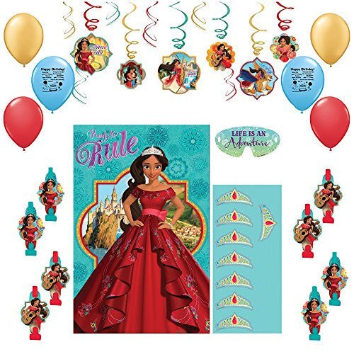 Disney Elena of Avalor Party Game and Decoration Bundle