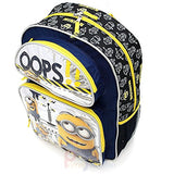 "Despicable Me 2 Minions 16"" Large School Backpack Lunch Bag Set - Oops!"