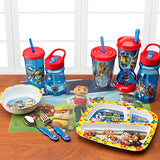 Zak! Designs 3 Section Plate featuring Paw Patrol Graphics, Break-resistant and BPA-free plastic