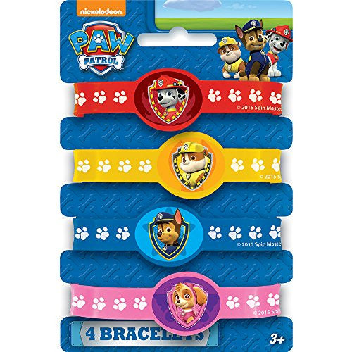 PAW Patrol Silicone Wristband Party Favors, 4ct