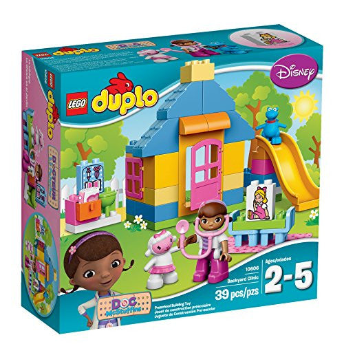 LEGO DUPLO Disney Doc McStuffins Backyard Clinic 10606, Preschool, Pre-Kindergarten Large Building Block Toys for Toddlers