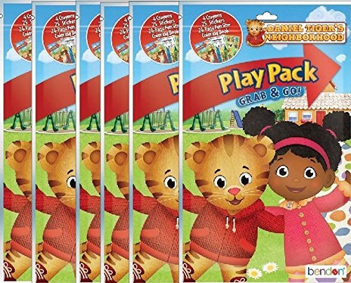 Daniel Tigers Neighborhood Play And Go Super Set Coloring Book With Stickers Crayons
