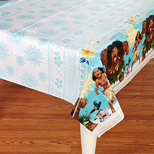 "American Greetings Moana 54"" x 96"" Plastic Table Cover"