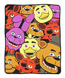 "BIOWORLD Five Nights at Freddy's Multi Character Fleece Throw Blanket, 48"" x 60"""