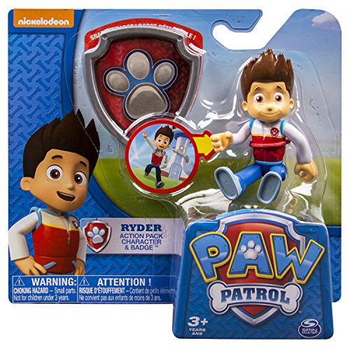 Paw Patrol Action Pack Pup Badge Ryder Toy Tees Totes And Tiles