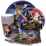 Star Wars Birthday Party Supplies Pack for 8 Guests - Lunch Plates, Dessert Plates, Lunch Napkins, Cups