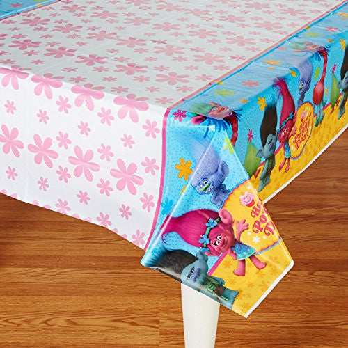 "American Greetings Trolls Plastic Table Cover, 54"" x 96"""