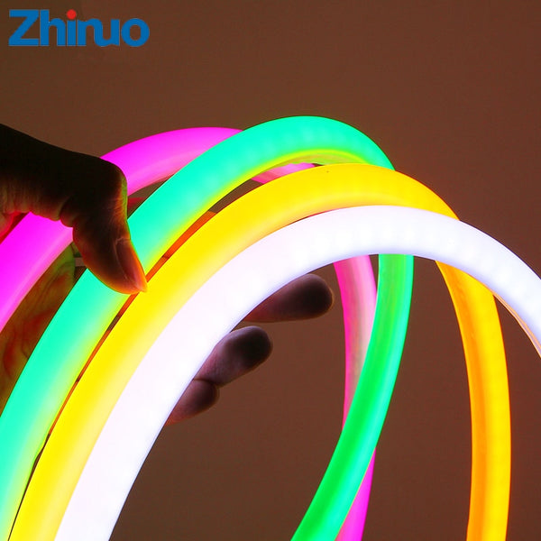 LED Strip 12V SMD2835 Neon Light Round Line Low Voltage Flexible Indoor Outdoor Waterproof Soft Light Strip Car Ambilight Lights