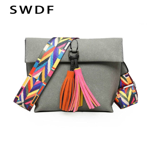 2019 New Women Messenger Bag Tassel Crossbody Bags For Girls Shoulder Bags Female Designer Handbags Bolsa Feminina Bolsos Muje