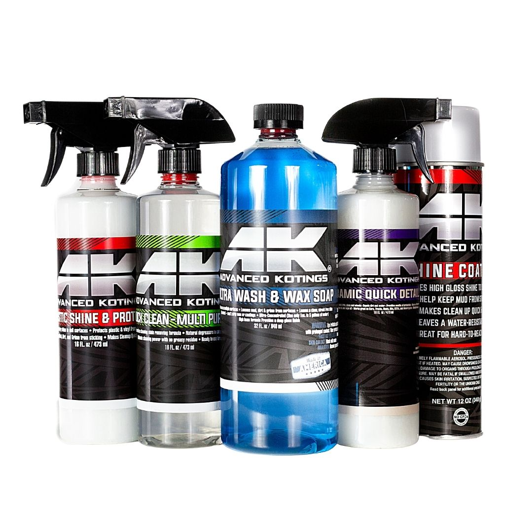 Advanced KotinV, ATV, and Watergs Detail Products and mud repellent for Street and Off-road vehicles, UTV, ATV Watercraft cleaning products.
