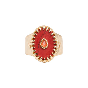 RING ACHILLE RUBY