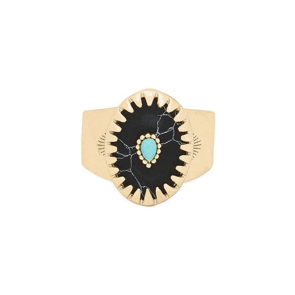 RING ACHILLE BLACK