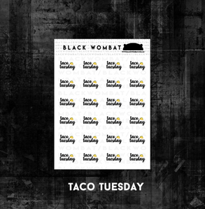 Taco Tuesday Planner Stickers